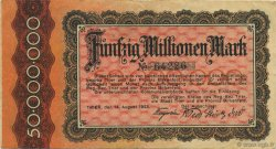 50 Millions Mark GERMANY  1923