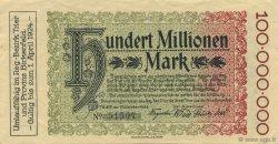 100 Millions Mark ALLEMAGNE Trier - Trèves 1923  SUP+