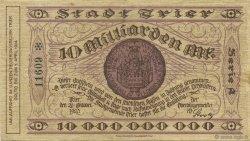 10 Milliards Mark ALLEMAGNE Trier - Trèves 1923  TTB