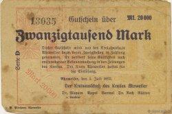 20000 Mark ALLEMAGNE  1923  TB