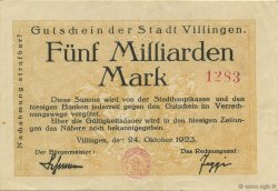 5 Milliards Mark ALLEMAGNE  1923  TTB+