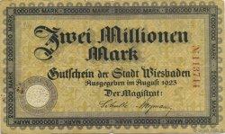 2 Millions Mark ALLEMAGNE Wiesbaden 1923  TTB