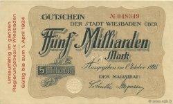 5 Milliards Mark ALLEMAGNE  1923  SUP+