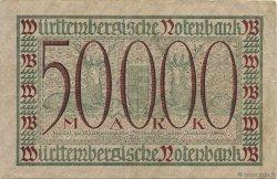 50000 Mark ALLEMAGNE Stuttgart 1923 PS.0983 TTB