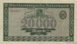 20000 Mark ALLEMAGNE Stuttgart 1923 PS.0984 SUP