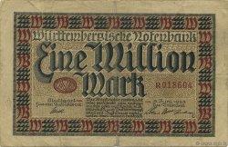 1 Million Mark ALLEMAGNE Stuttgart 1923 PS.0986 TB+
