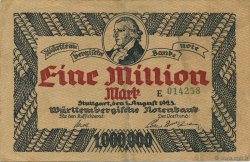 1 Million Mark ALLEMAGNE Stuttgart 1923 PS.0987 TTB