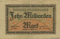 10 Milliards Mark ALLEMAGNE  1923 P.S0990a pr.TTB