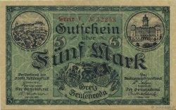5 Mark ALLEMAGNE Zeulenroda 1918  SUP