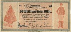 50 Milliards Mark ALLEMAGNE  1918  TTB+