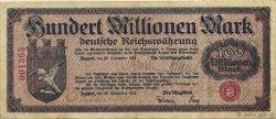 100 Million Mark ALLEMAGNE  1923  TTB+