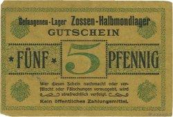5 Pfennig ALLEMAGNE Zossen-Halbmondlager 1916  TTB