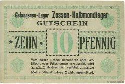10 Pfennig ALLEMAGNE Zossen-Halbmondlager 1916  SUP