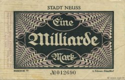 1 Milliard Mark ALLEMAGNE Neuss 1923  TTB