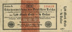 1,05 Mark Gold ALLEMAGNE Berlin 1923 Mul.? TTB