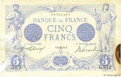 5 Francs BLEU FRANCE  1912 F.02.09 TTB