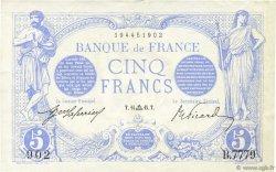 5 Francs BLEU FRANCE  1915 F.02.31 pr.SUP