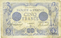 5 Francs BLEU FRANCE  1915 F.02.33 TB