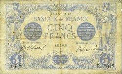 5 Francs BLEU FRANCE  1916 F.02.39 TB