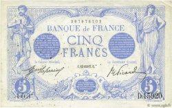 5 Francs BLEU FRANCE  1917 F.02.47 SUP+