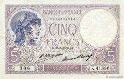 5 Francs VIOLET FRANCE  1930 F.03.14 TTB