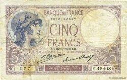 5 Francs VIOLET FRANCE  1930 F.03.14 TB