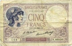 5 Francs VIOLET FRANCE  1931 F.03.15 TB
