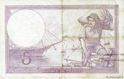 5 Francs VIOLET modifié FRANCE  1939 F.04.03 TTB