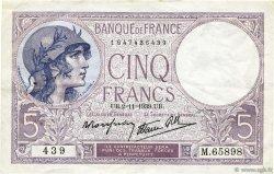 5 Francs VIOLET modifié FRANCE  1939 F.04.14 TTB