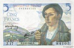 5 Francs BERGER FRANCE  1943 F.05.01 SUP