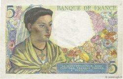 5 Francs BERGER FRANCE  1943 F.05.01 SPL