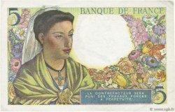 5 Francs BERGER FRANCE  1943 F.05.02 SUP+