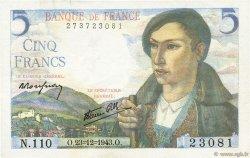 5 Francs BERGER FRANCE  1943 F.05.05 pr.SPL