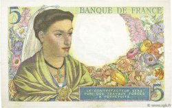 5 Francs BERGER FRANCE  1943 F.05.05 pr.SPL