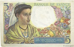 5 Francs BERGER FRANCE  1943 F.05.05 SUP