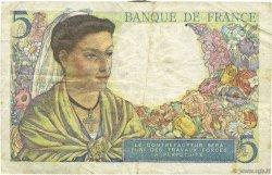 5 Francs BERGER FRANCE  1945 F.05.06 pr.TTB