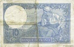 10 Francs MINERVE FRANCE  1922 F.06.06 pr.TTB