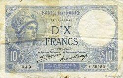 10 Francs MINERVE FRANCE  1931 F.06.15 TB+