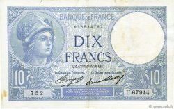 10 Francs MINERVE FRANCE  1936 F.06.17 TTB+