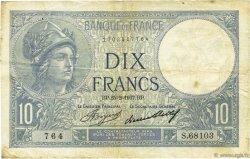 10 Francs MINERVE FRANCE  1937 F.06.18 TB
