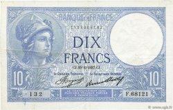 10 Francs MINERVE FRANCE  1937 F.06.18 TTB+