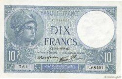 10 Francs MINERVE modifié FRANCE  1939 F.07.01 SUP+