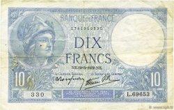 10 Francs MINERVE modifié FRANCE  1939 F.07.03 TB+