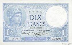 10 Francs MINERVE modifié FRANCE  1939 F.07.04 SPL