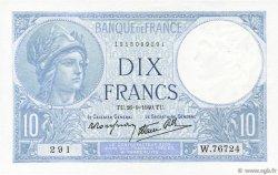 10 Francs MINERVE modifié FRANCE  1940 F.07.15 SUP