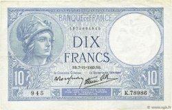 10 Francs MINERVE modifié FRANCIA  1940 F.07.19 EBC