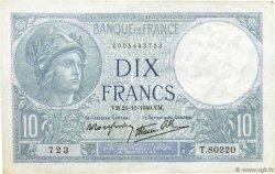 10 Francs MINERVE modifié FRANCE  1940 F.07.21 SUP