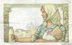 10 Francs MINEUR FRANCE  1942 F.08.04 TTB