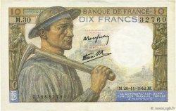 10 Francs MINEUR FRANCE  1942 F.08.06 SUP