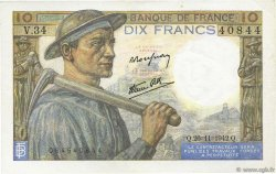 10 Francs MINEUR FRANCE  1942 F.08.06 SUP